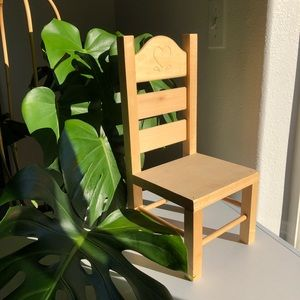 VINTAGE Small Wooden Plant Doll Chair Cottagecore